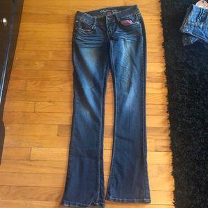 Bubblegum Jeans - Boot cut dark blue jeans